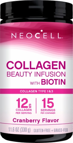 Neocell Beauty Infusion Cranberry Splash Dietary Supplement Drink Mix Perspective: front