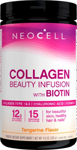 NeoCell Beauty Infusion Tangerine Twist Dietary Supplement Drink Mix Perspective: front