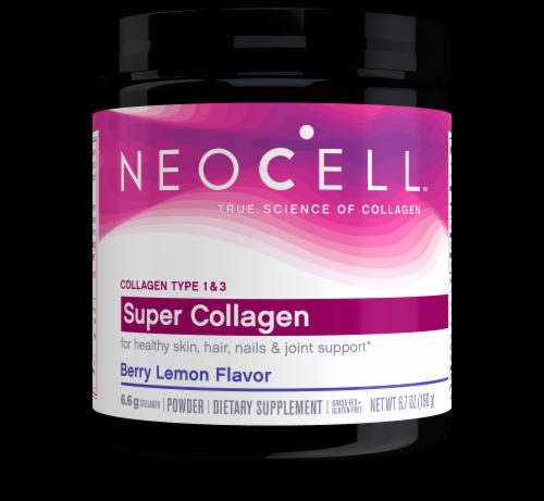 NeoCell Berry Lemon Flavor Super Collagen Powder Perspective: front