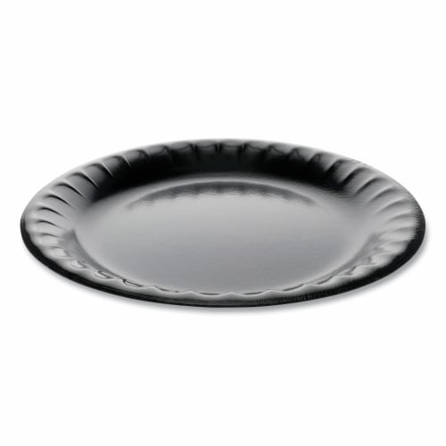 PCT YTKB00090000 9 in. Laminated Foam Dinnerware 1-Compartment Plate, White Perspective: front