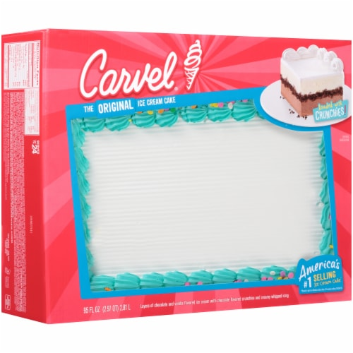 Carvel Celebration Chocolate and Vanilla Ice Cream Cake Perspective: front