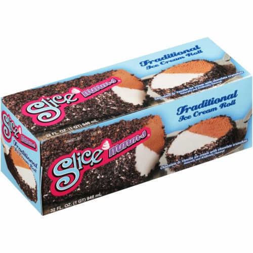Carvel Slice Mmms Ice Cream Roll Perspective: front
