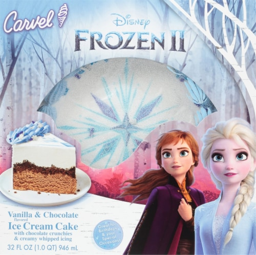 Disney Frozen 2 Vanilla & Chocolate Ice Cream Cake Perspective: front