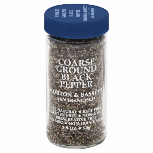 Morton & Bassett Coarse Ground Black Pepper Perspective: front