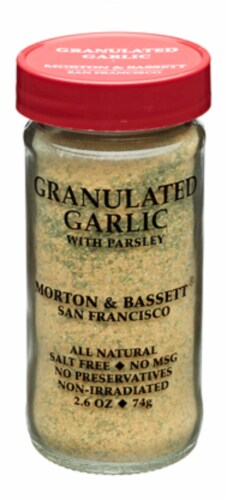 Morton & Bassett Granulated Garlic With Parsley Perspective: front