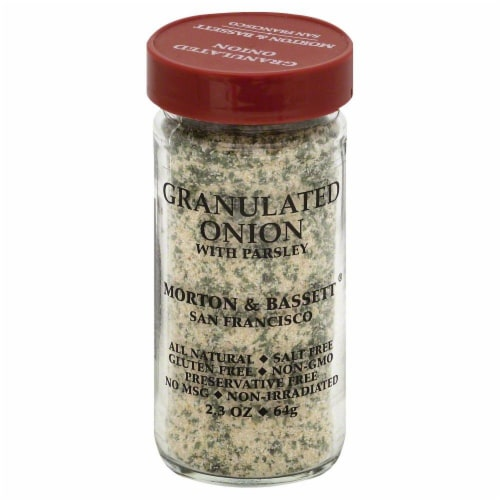 Morton & Bassett Granulated Onion With Parsley Perspective: front