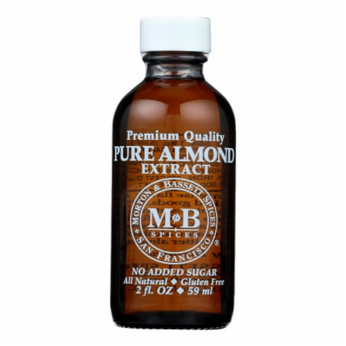 Morton And Bassett Premium Quality Pure Almond Extract - Case of 3 - 2 FZ Perspective: front