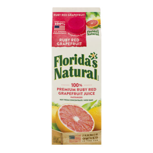 Florida's Natural Ruby Red Grapefruit Juice Perspective: front