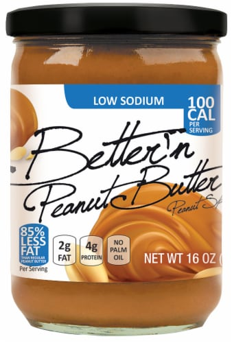 Better'n Peanut Butter Low Sodium Peanut Spread Perspective: front