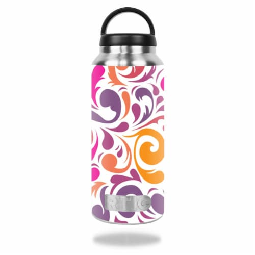 MightySkins RTBOT36-Swirly Girly Skin for RTIC 36 oz Bottle 2016 Wrap Cover Sticker - Swirly Perspective: front