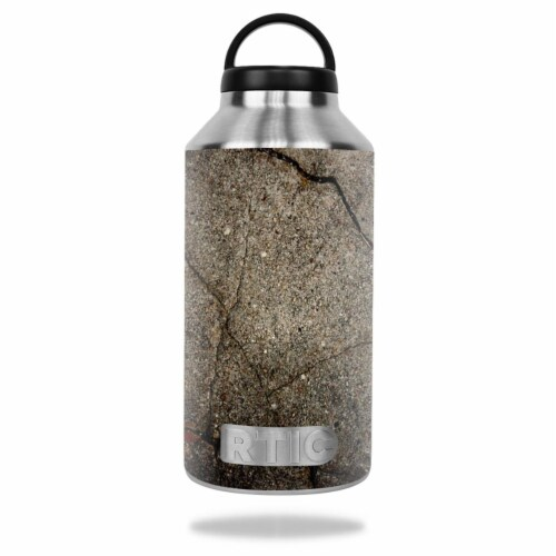 MightySkins RTBOT64-Cracked Skin for RTIC 64 oz Bottle 2016 Wrap Cover - Cracked Perspective: front
