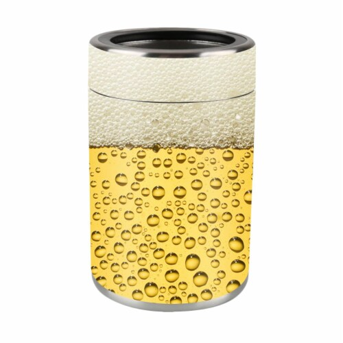 MightySkins OZCAN-Beer Buzz Skin for Ozark Trail 12 oz Can Wrap Cover Sticker - Beer Buzz Perspective: front