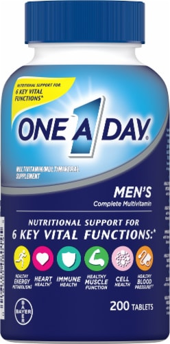 One A Day Men's Health Formula Multivitamin Tablets Perspective: front