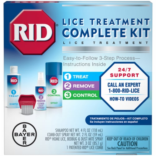 RID Lice Treatment Complete Kit Perspective: front