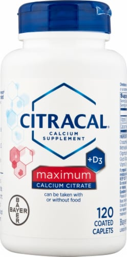 Citracal Maximum Calcium Citrate Plus D3 Coated Caplets 120 Count Perspective: front
