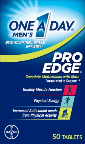 One A Day Men's Pro Edge Multivitamin Tablets Perspective: front