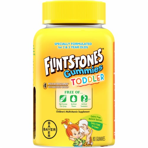 Flintstones Gummies Toddler Vitamins with Vitamins A C D B12 Zinc & more Perspective: front