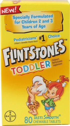 Flintstones Chewable Toddler Multivitamin Chewable Tablets 80 Count Perspective: front