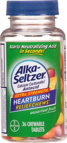 Alka-Seltzer Extra Strength Heartburn ReliefChews Assorted Fruit Chewable Tablets Perspective: front