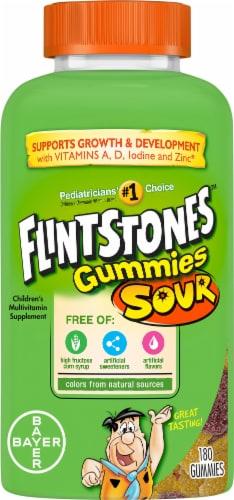 Flintstones Sour Gummies Kids Vitamins with  Vitamins A B6 B12 C D & more Perspective: front