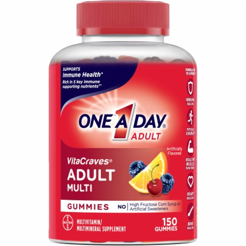 One A Day VitaCraves Adult Multivitamin Gummies Perspective: front