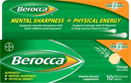 Berocca Orange Effervescent Tablets Perspective: front