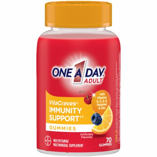 One A Day VitaCraves Immunity Support Adult Multivitamin/Multimineral Supplement Gummies Perspective: front