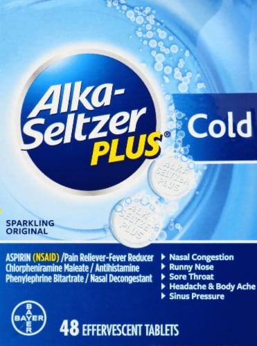 Alka-Seltzer Plus Cold Formula Sparkling Original Effervescent Tablets Perspective: front