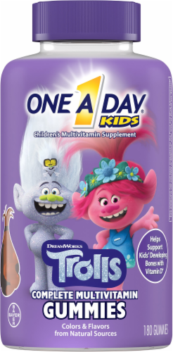 One A Day Kids Trolls Multivitamin Gummies Perspective: front