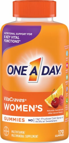One A Day Women's VitaCraves Multivitamin Gummies Perspective: front