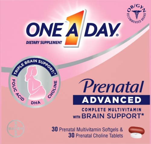One A Day Women's Prenatal with Choline Softgels & Tablets Perspective: front