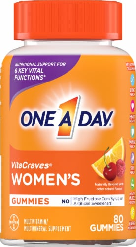 One A Day VitaCraves Women's Multivitamin Gummies Perspective: front