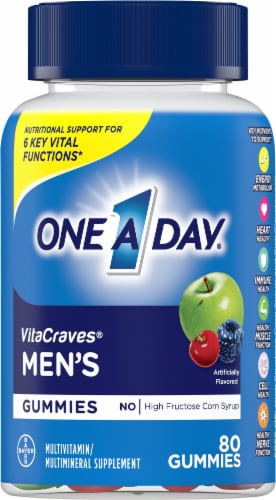 One A Day VitaCraves Men's Multivitamin Gummies Perspective: front