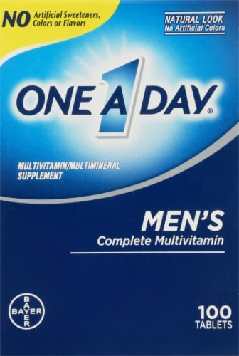 One A Day Mens Health Tablets Perspective: front