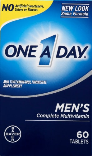 One A Day Men's Complete Multivitamin Tablets Perspective: front