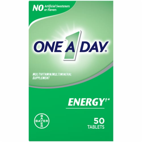 One A Day Energy Multivitamin Tablets Perspective: front