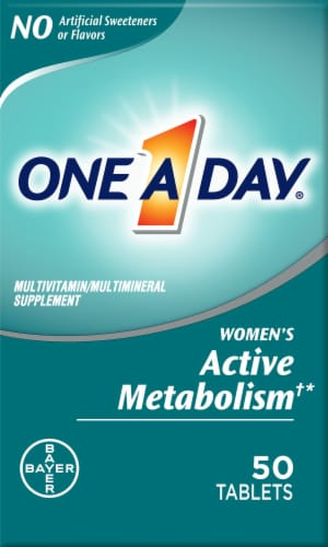 One A Day Womens Active Metabolism Tablets Perspective: front