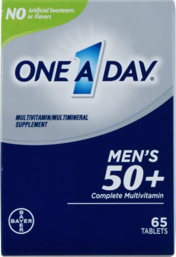 One A Day Men's 50+ Complete Multivitamin Tablets Perspective: front