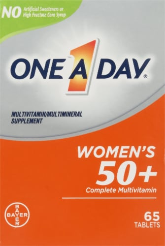 One A Day Womens 50+ Complete Multivitamin Tablets Perspective: front