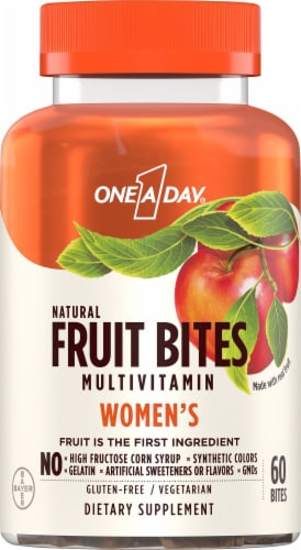One A Day Women's Multivitamin Fruit Bites Perspective: front