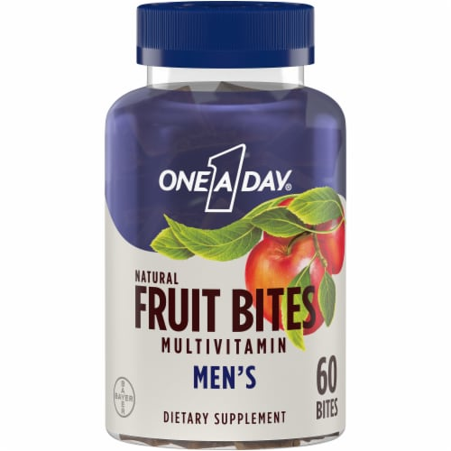 One A Day Men's Multivitamin Fruit Bites Perspective: front