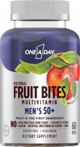 One A Day Mens 50+ Fruit Bites Perspective: front