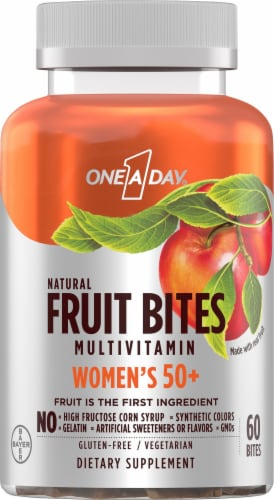 One A Day  Multivitamins Womens 50+ Fruit Bites Perspective: front