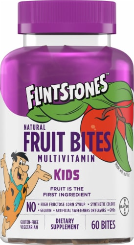 Flintstones Fruit Bites Kids Multivitamin Bites Perspective: front