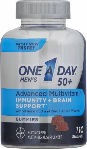 One A Day Men's 50+ Advanced Multivitamin Gummies Perspective: front
