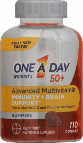 One A Day Women's 50+ Advanced Multivitamin Gummies Perspective: front