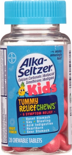 Alka-Seltzer Kids Fruit Punch Tummy Relief Chewable Tablets Perspective: front