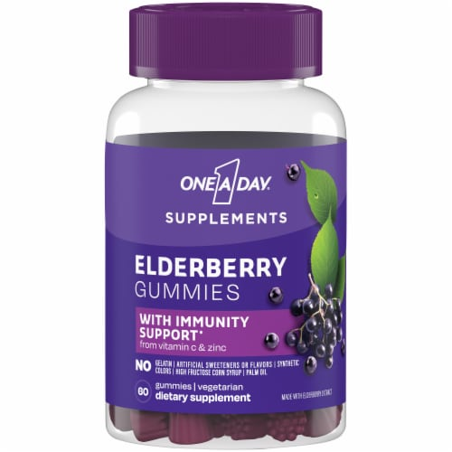 One A Day Elderberry Gummies with Immunity Support Perspective: front