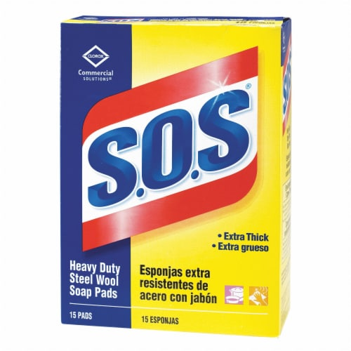 S.O.S Box of Steel Wool Pads,Course HAWA 88320 Perspective: front