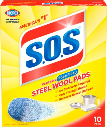 S.O.S. Soap-Filled Steel Wool Pads Perspective: front